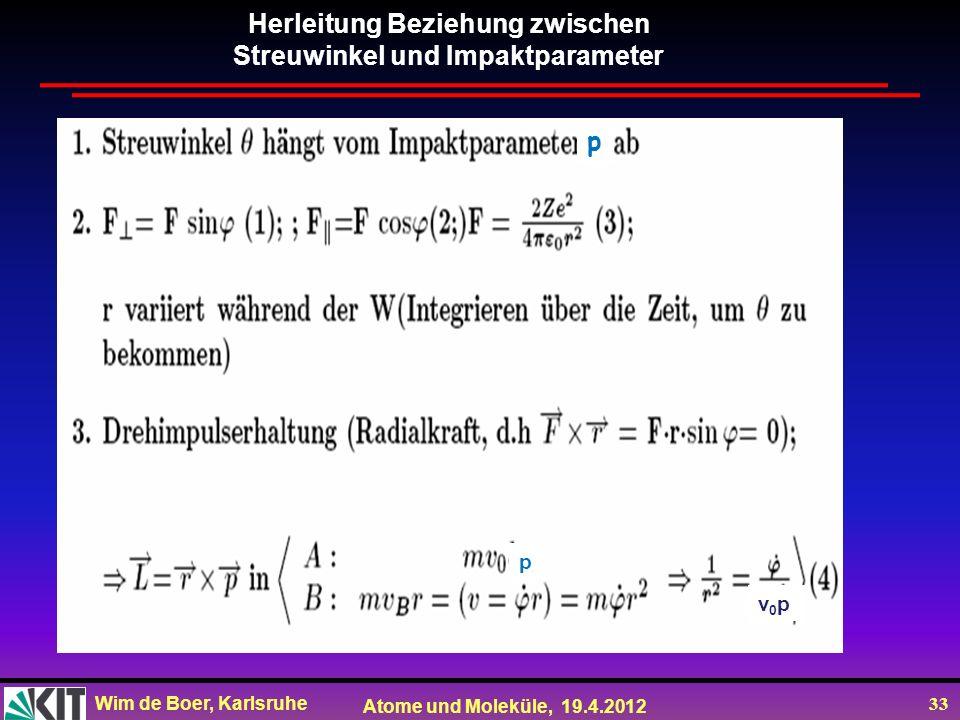 Herleitung Beziehung zwischen Streuwinkel und Impaktparameter