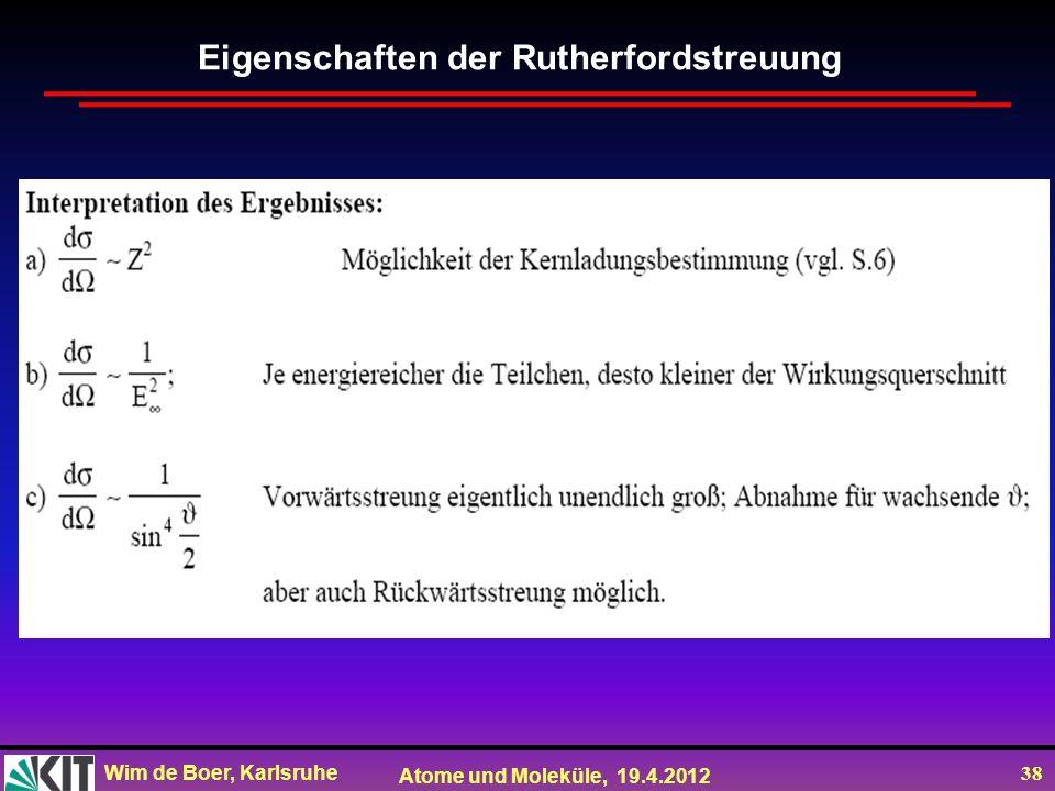 Eigenschaften der Rutherfordstreuung