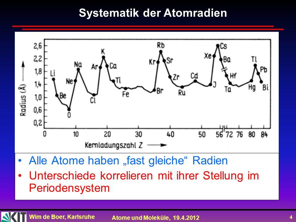 Systematik der Atomradien