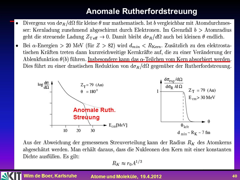 Anomale Rutherfordstreuung