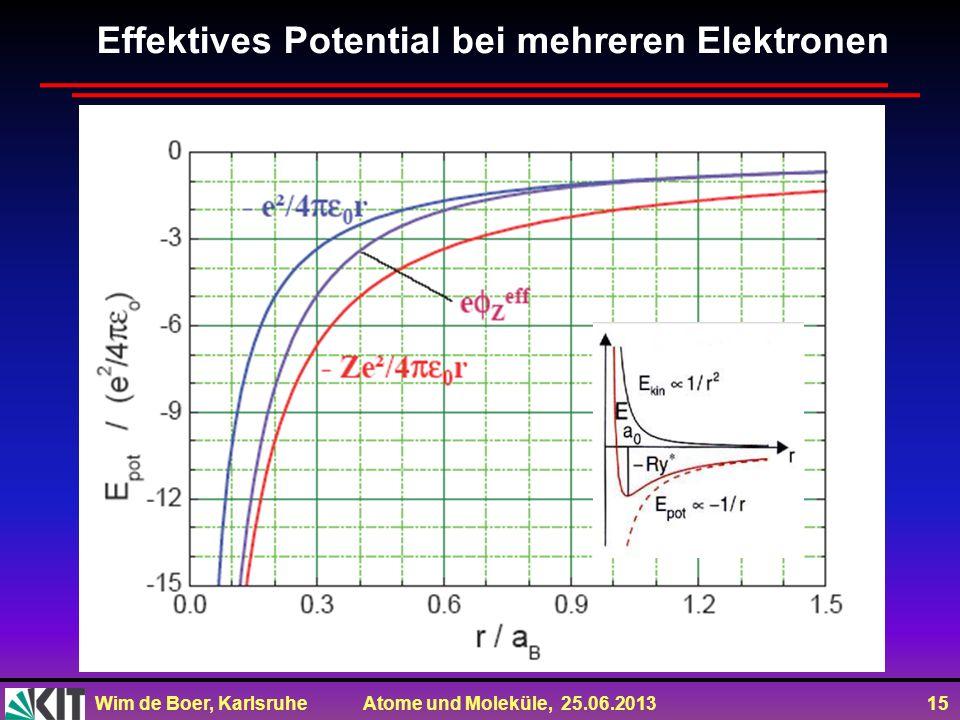 Effektives Potential bei mehreren Elektronen