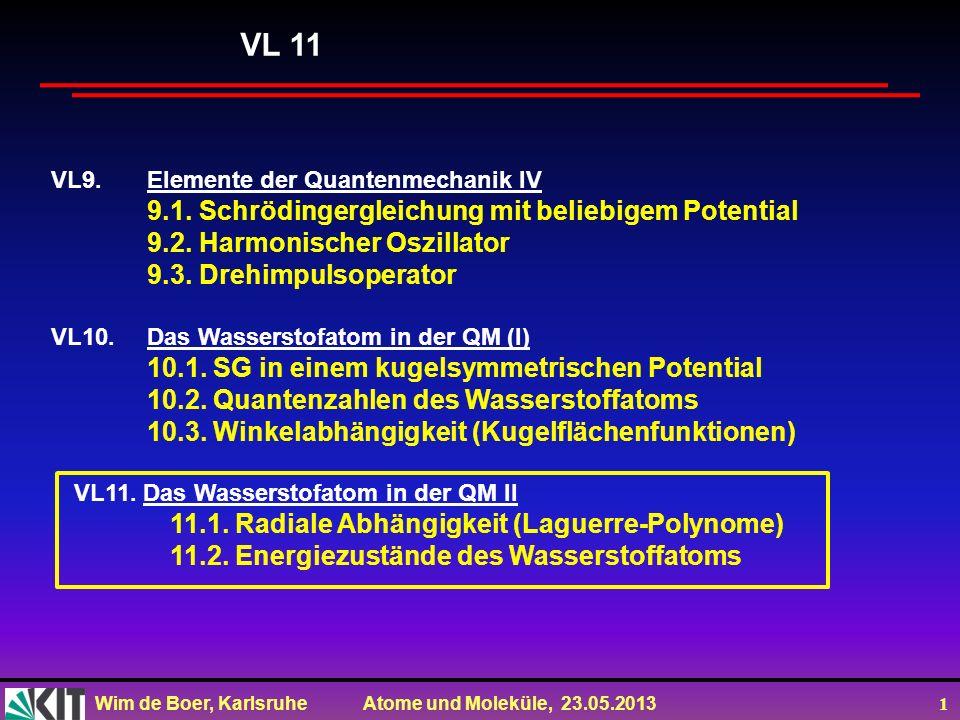 VL 11 9.1. Schrödingergleichung mit beliebigem Potential