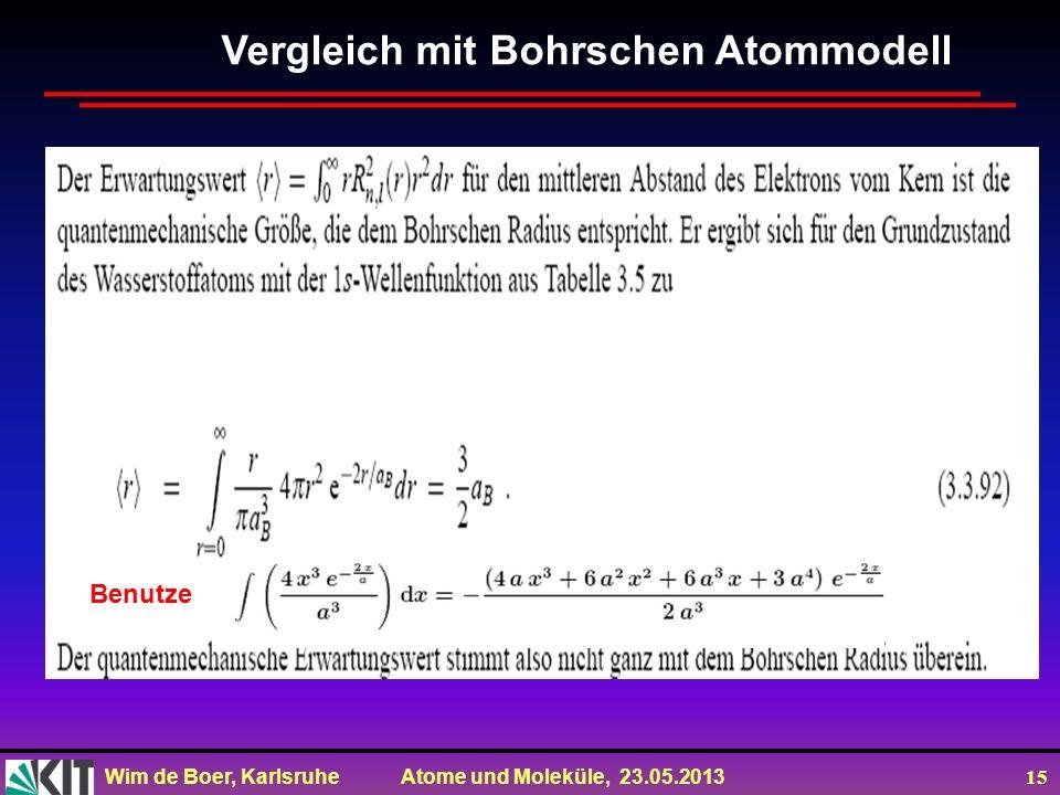 Vergleich mit Bohrschen Atommodell