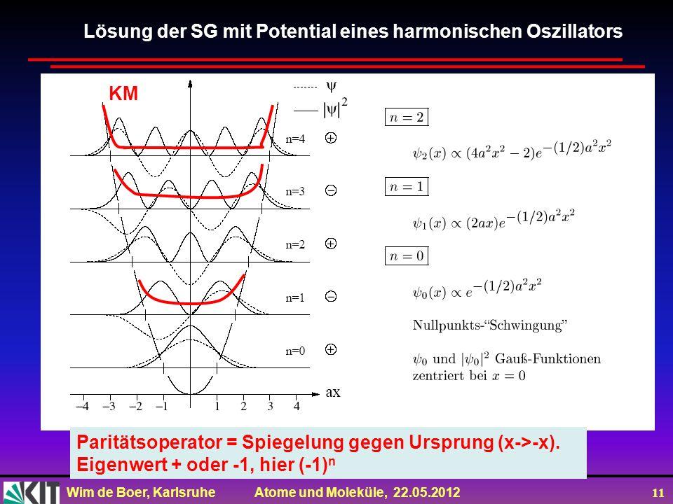 Lösung der SG mit Potential eines harmonischen Oszillators