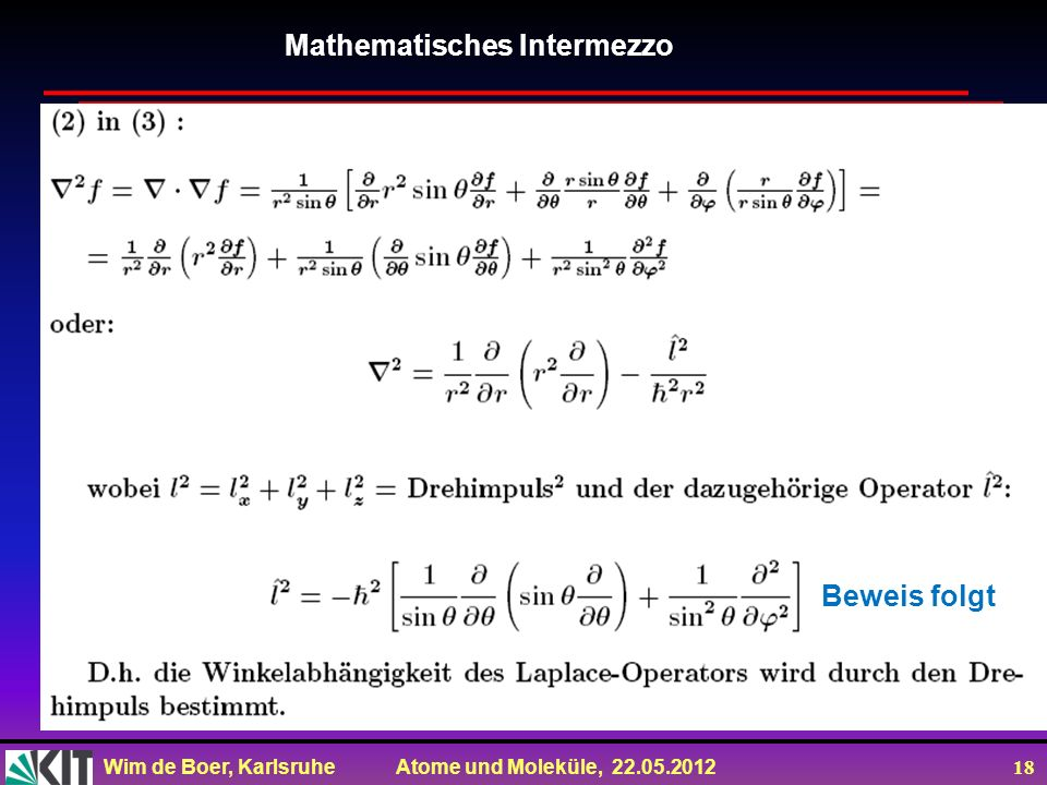 Mathematisches Intermezzo