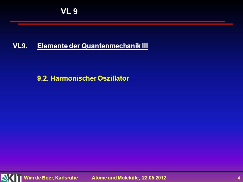 VL 9 VL9. Elemente der Quantenmechanik III