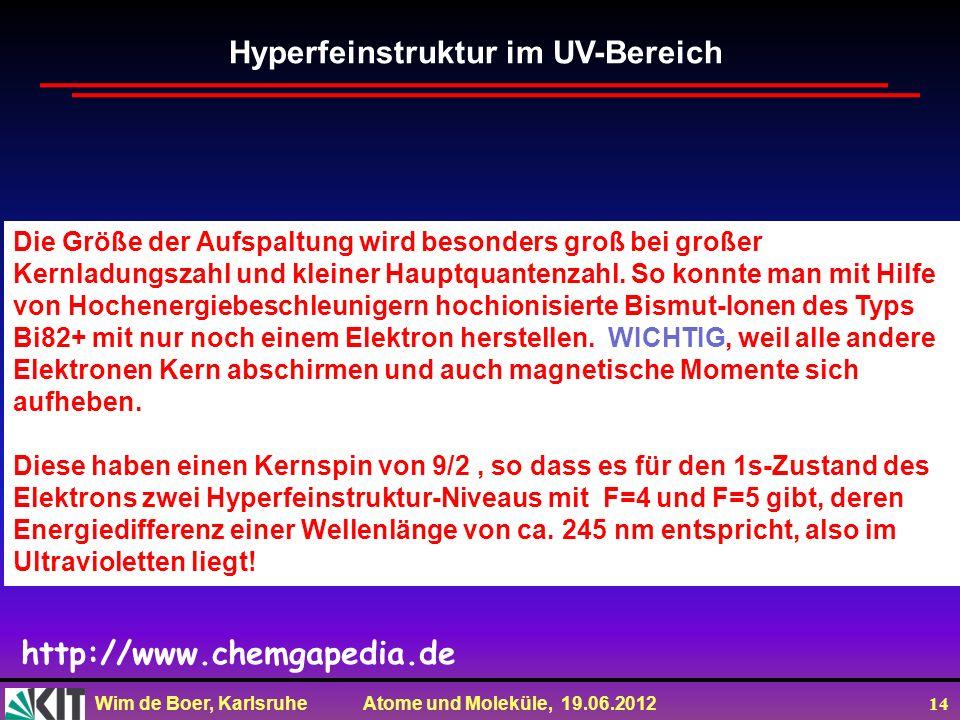 Hyperfeinstruktur im UV-Bereich