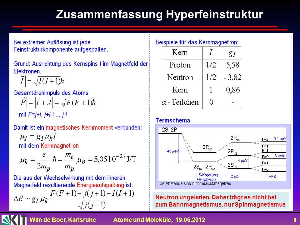 Zusammenfassung Hyperfeinstruktur