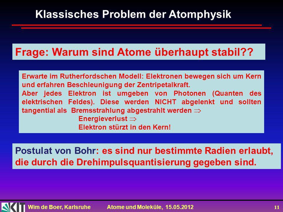 Klassisches Problem der Atomphysik