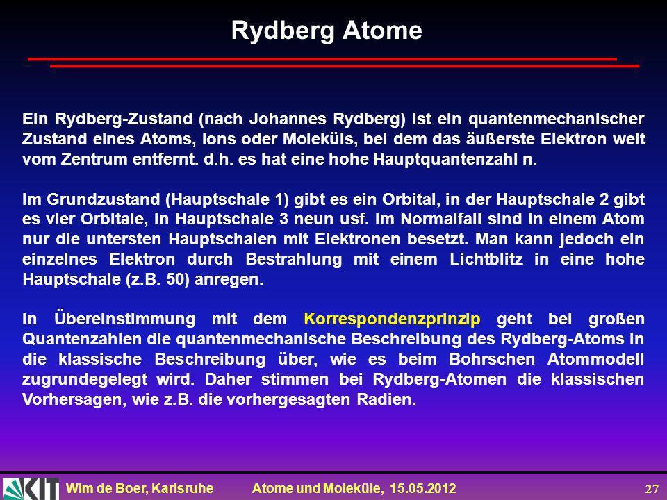 Rydberg Atome