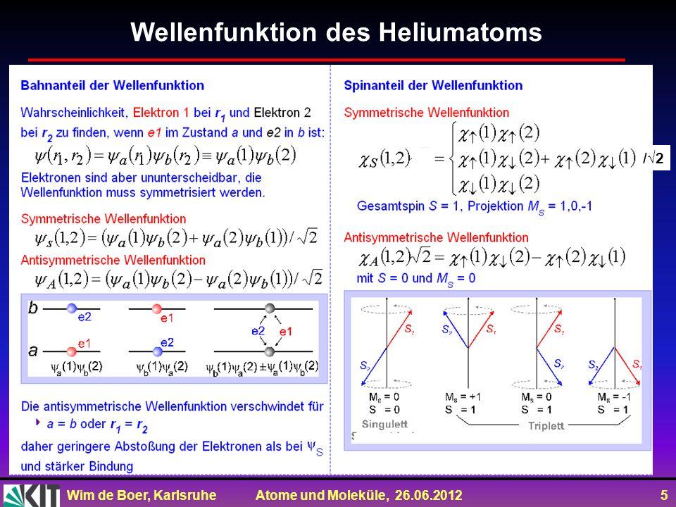 Wellenfunktion des Heliumatoms