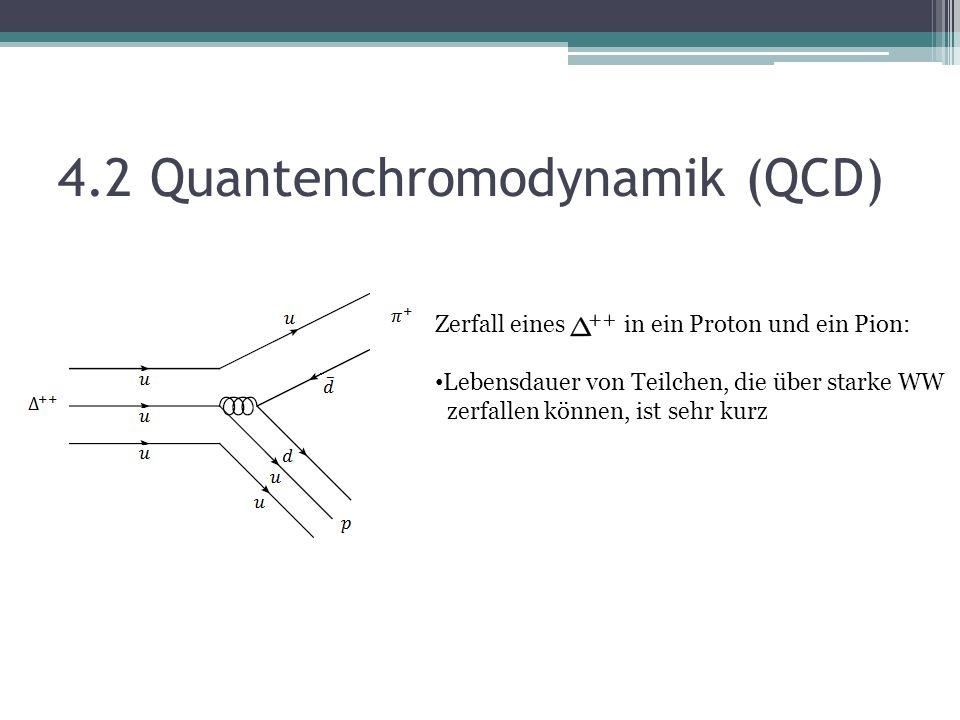 4.2 Quantenchromodynamik (QCD)