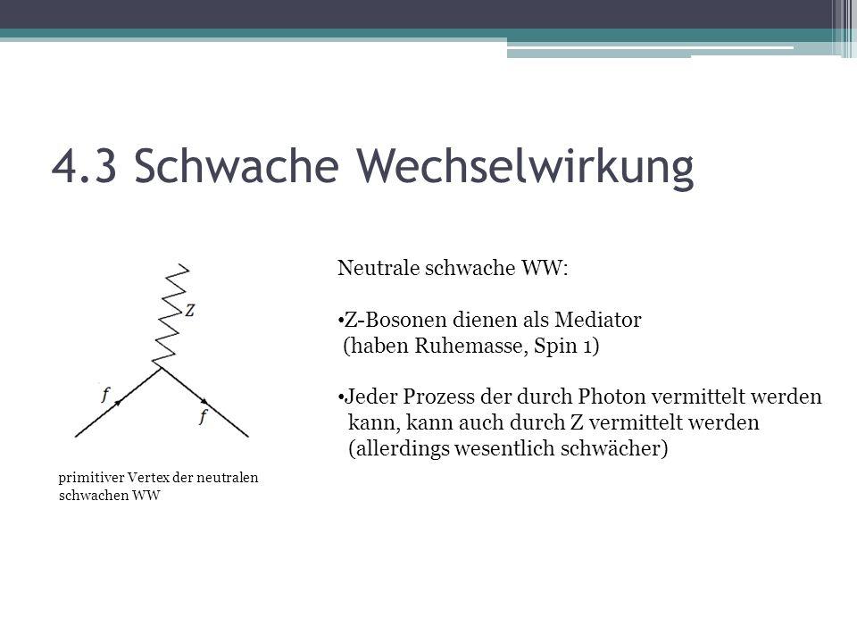 4.3 Schwache Wechselwirkung
