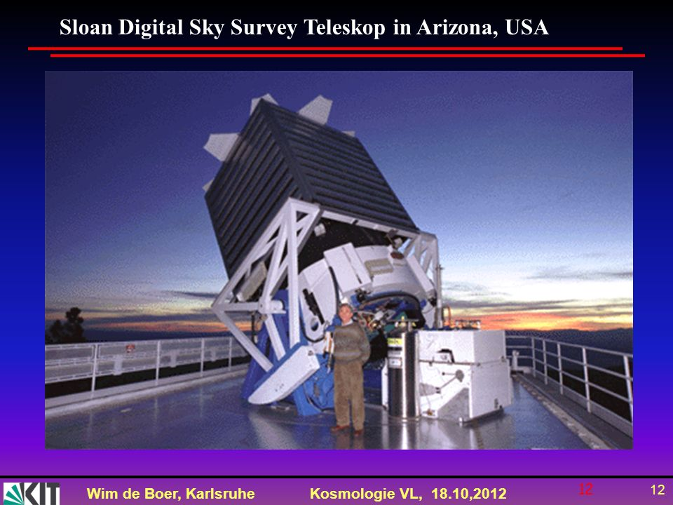 Sloan Digital Sky Survey Teleskop in Arizona, USA