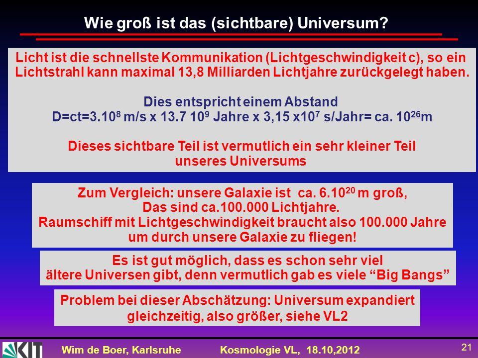 Wie groß ist das (sichtbare) Universum