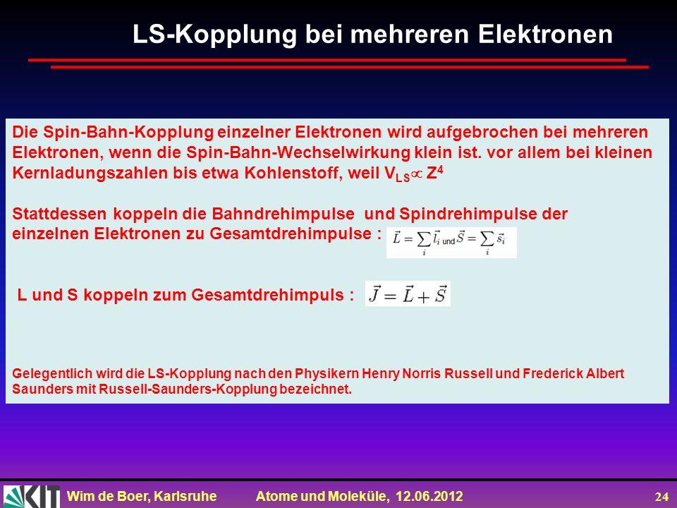 LS-Kopplung bei mehreren Elektronen