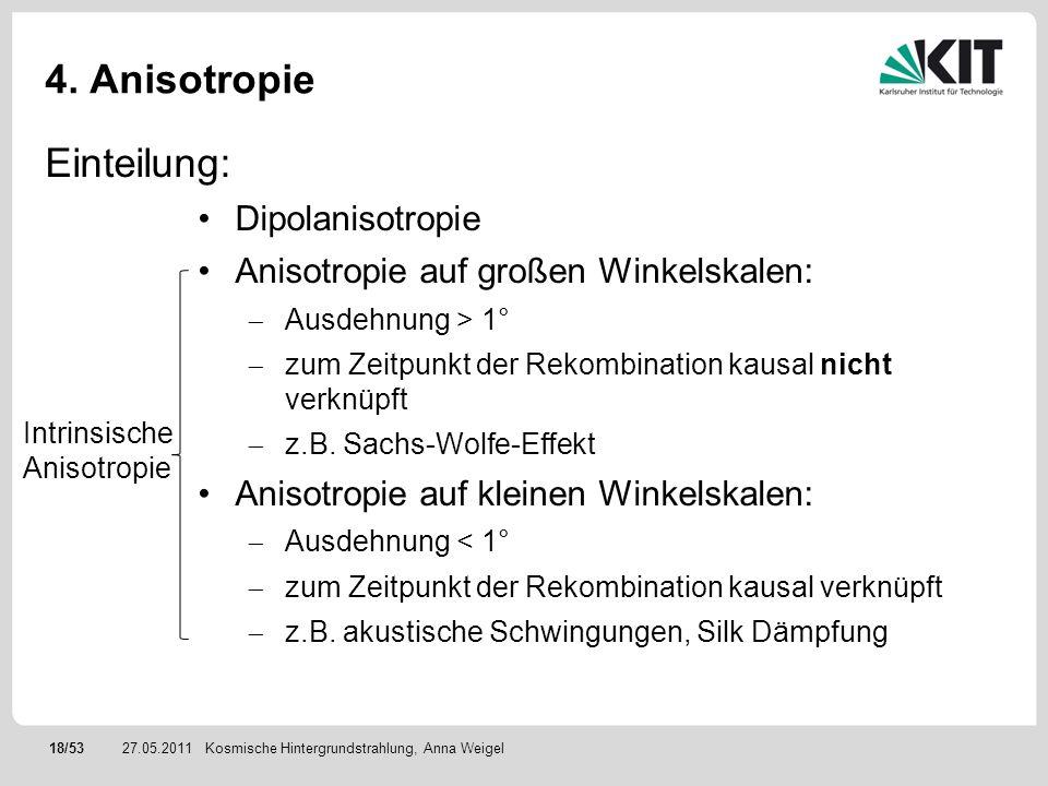 4. Anisotropie Einteilung: Dipolanisotropie