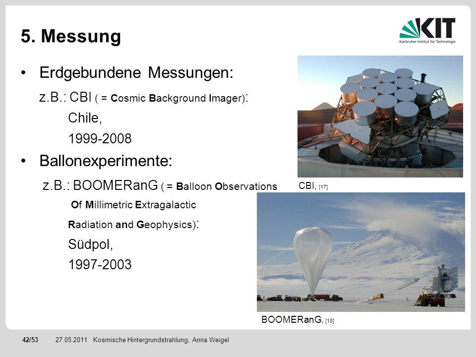 5. Messung Erdgebundene Messungen: