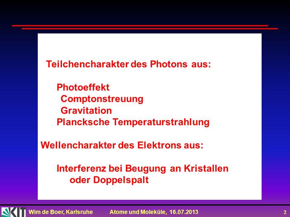 Teilchencharakter des Photons aus: