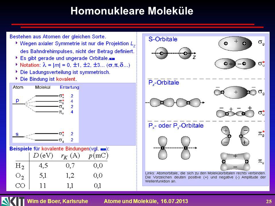 Homonukleare Moleküle