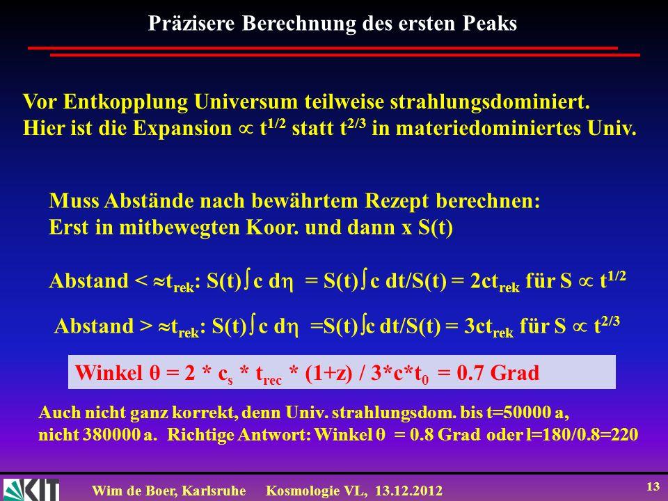 Präzisere Berechnung des ersten Peaks