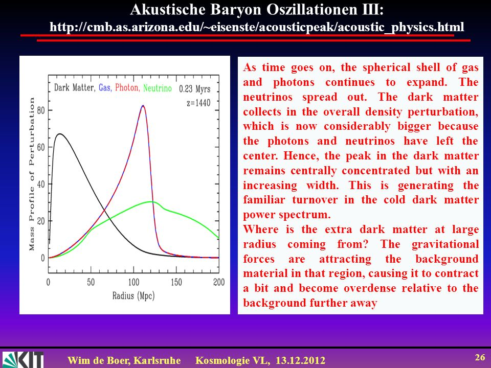 Akustische Baryon Oszillationen III: http://cmb. as. arizona