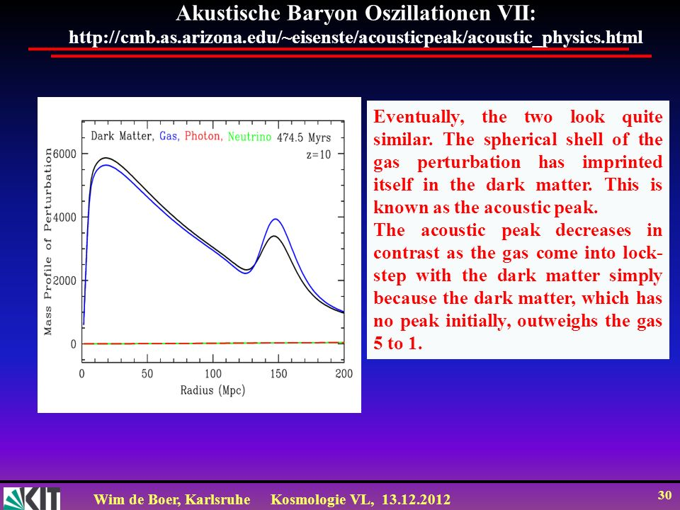 Akustische Baryon Oszillationen VII: http://cmb. as. arizona