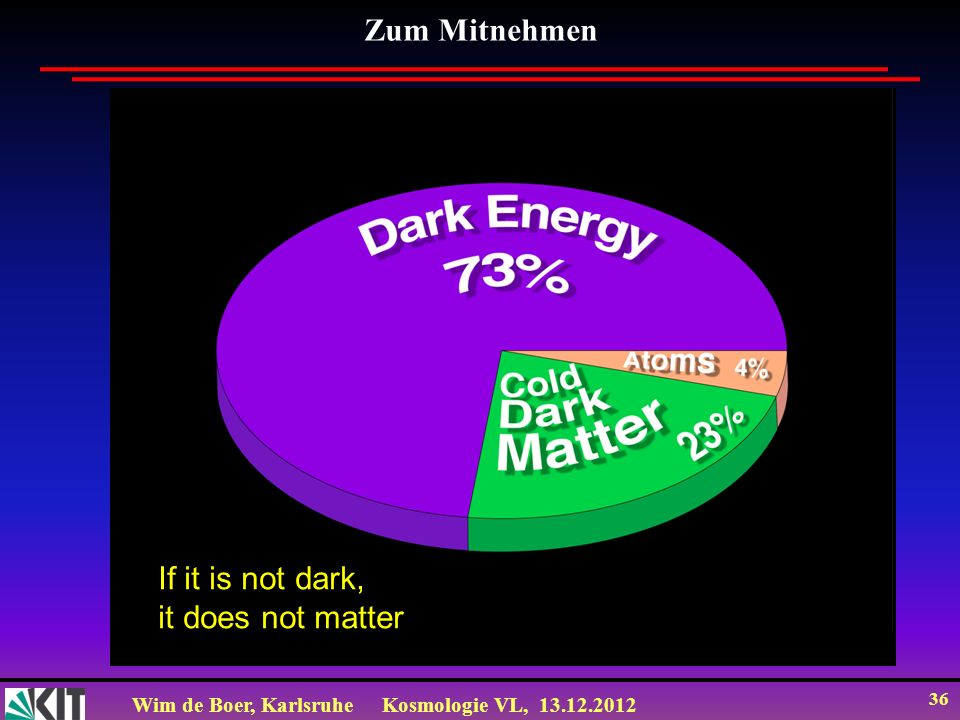 Zum Mitnehmen If it is not dark, it does not matter