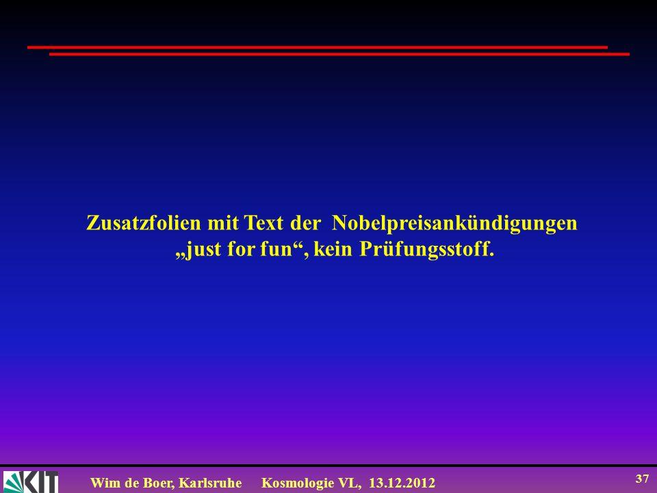 Zusatzfolien mit Text der Nobelpreisankündigungen