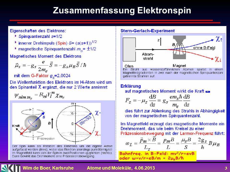 Zusammenfassung Elektronspin