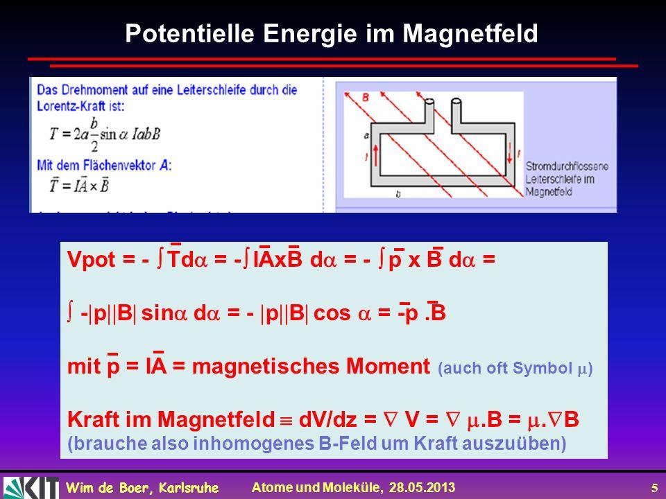 Potentielle Energie im Magnetfeld