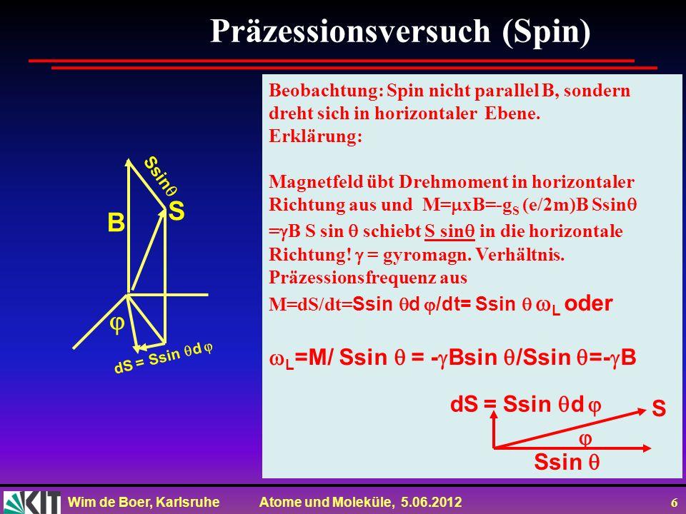 Präzessionsversuch (Spin)