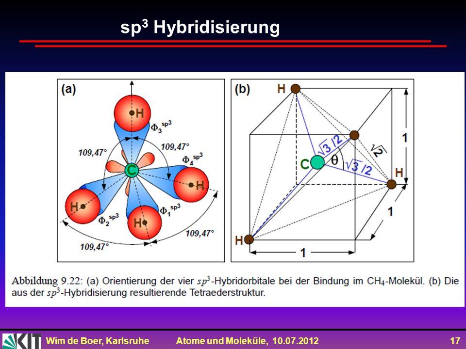 sp3 Hybridisierung