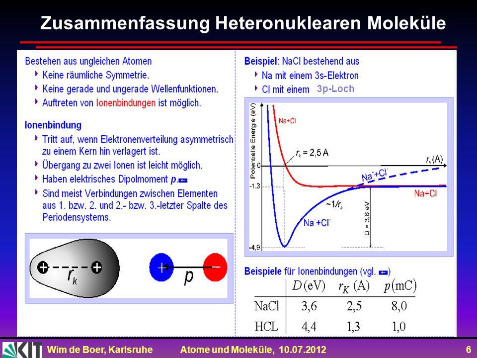 Zusammenfassung Heteronuklearen Moleküle