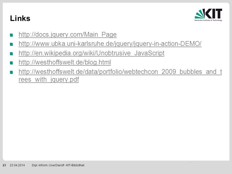 Links http://docs.jquery.com/Main_Page