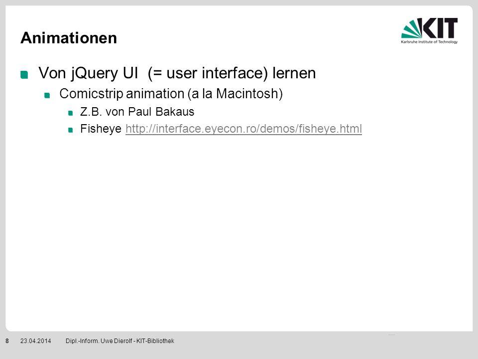 Von jQuery UI (= user interface) lernen