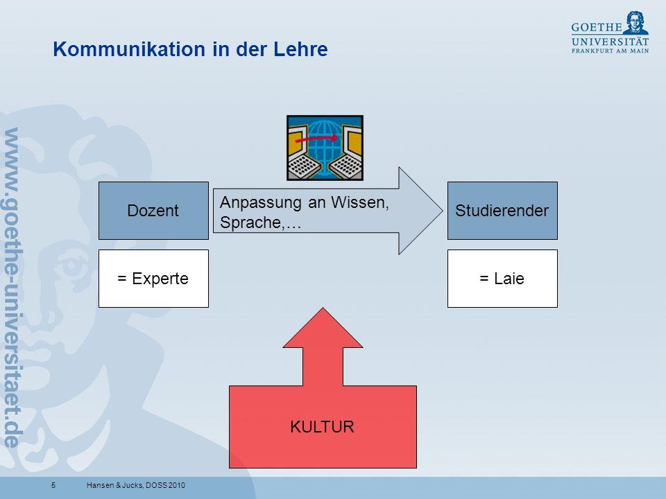 Kommunikation in der Lehre