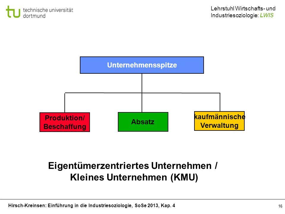 Eigentümerzentriertes Unternehmen / Kleines Unternehmen (KMU)