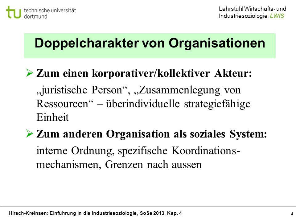 Doppelcharakter von Organisationen