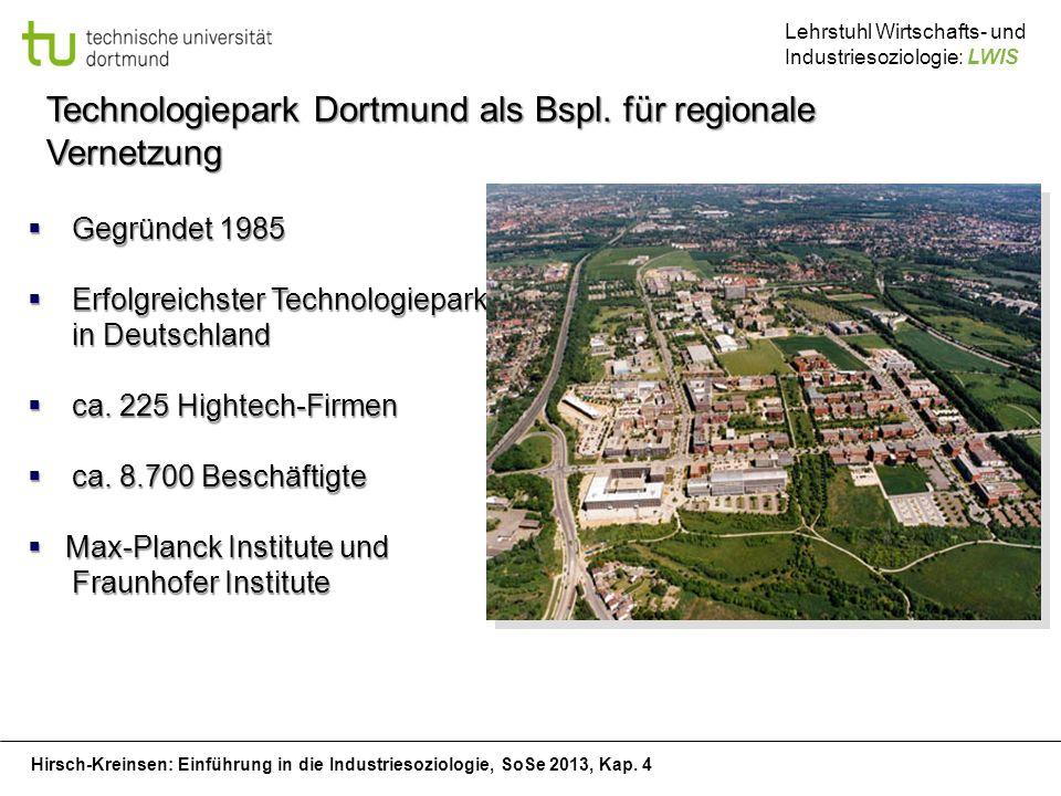 Technologiepark Dortmund als Bspl. für regionale Vernetzung