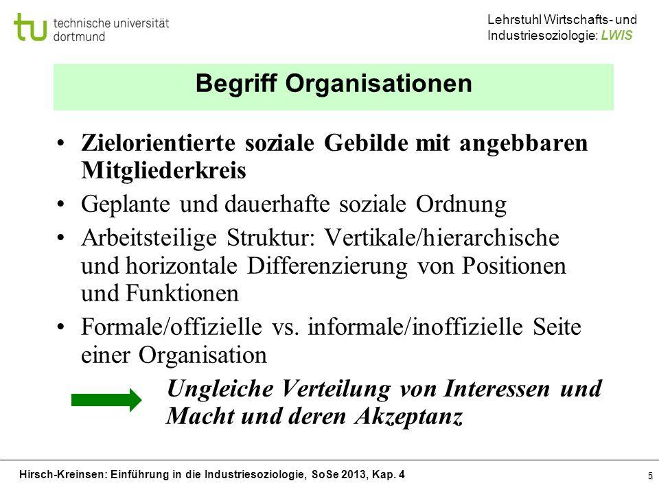 Begriff Organisationen