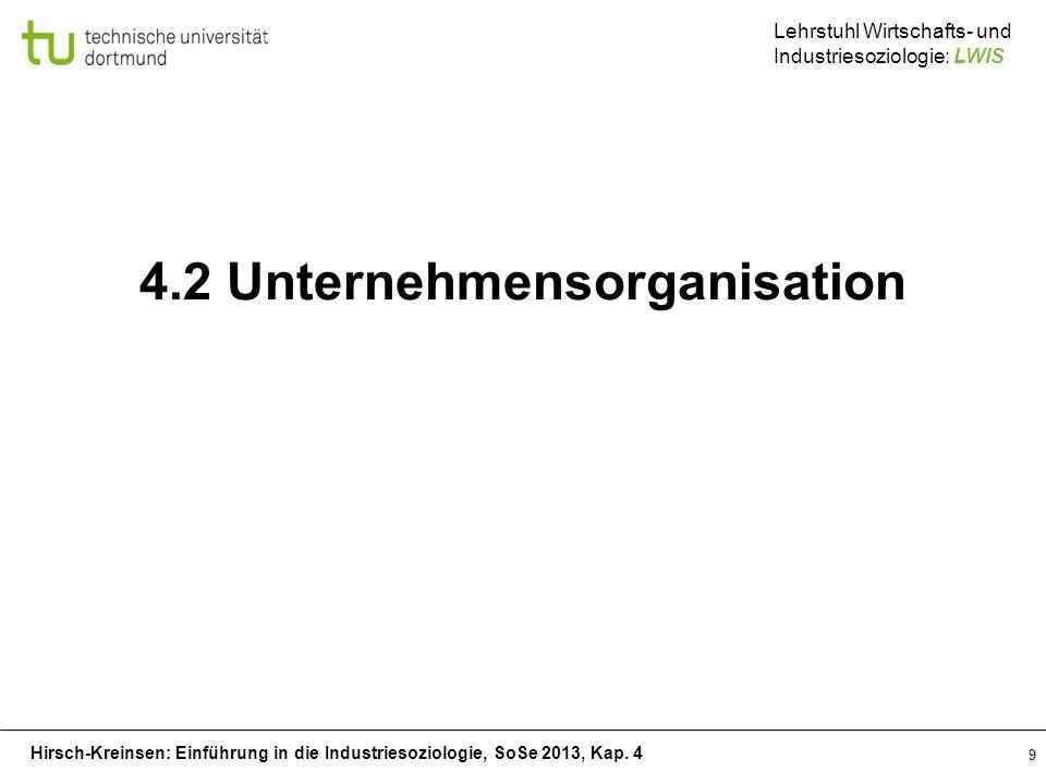 4.2 Unternehmensorganisation