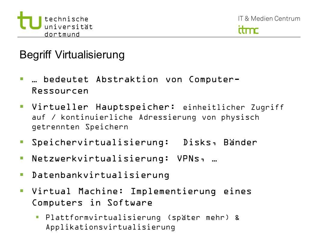 Begriff Virtualisierung
