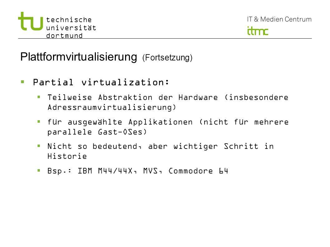 Plattformvirtualisierung (Fortsetzung)