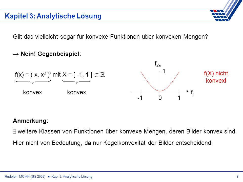 Kapitel 3: Analytische Lösung