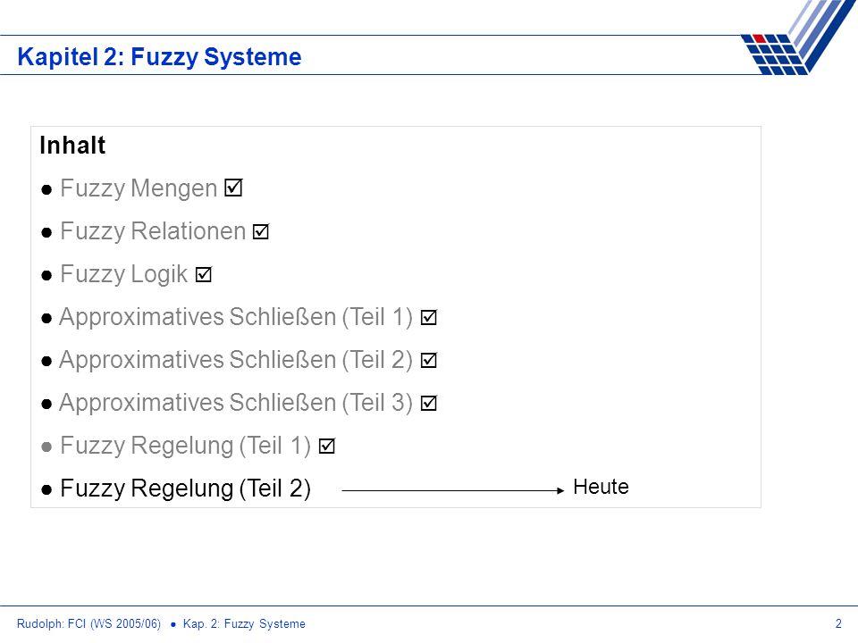 Kapitel 2: Fuzzy Systeme