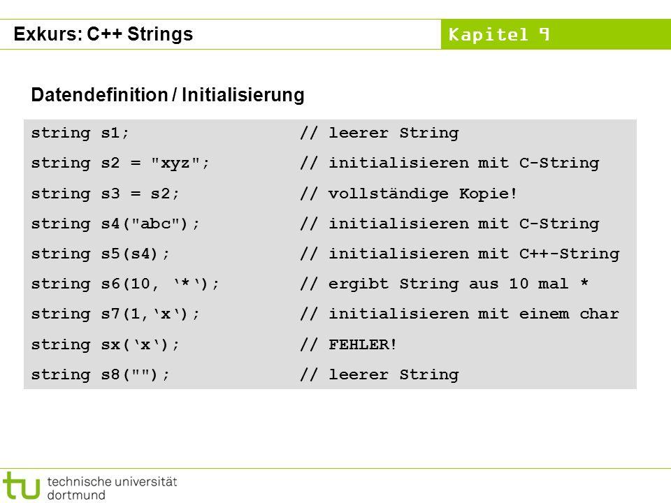Datendefinition / Initialisierung