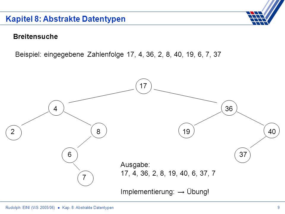 Kapitel 8: Abstrakte Datentypen