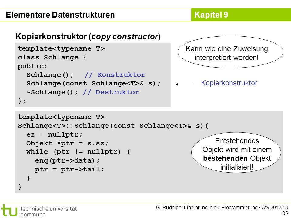 Elementare Datenstrukturen