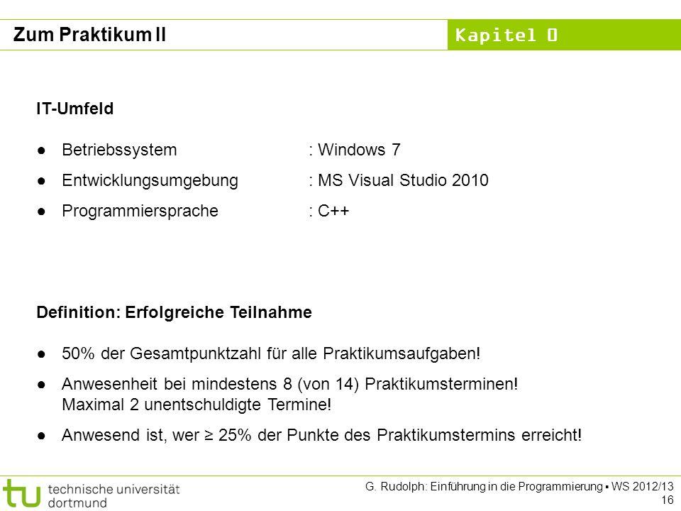 Zum Praktikum II IT-Umfeld Betriebssystem : Windows 7